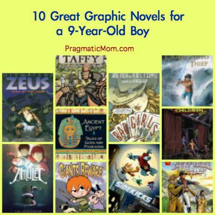 graphic novels for boys, graphic novels for 3rd grade, third grade graphic novels- via @PragmaticMom