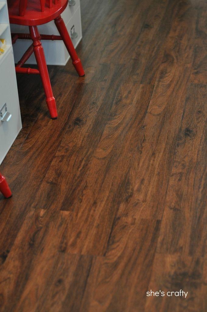 She's crafty: vinyl plank flooring aka fake wood floors