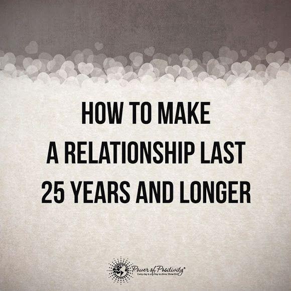 Como fazer um relacionamento durar 25 anos ou mais