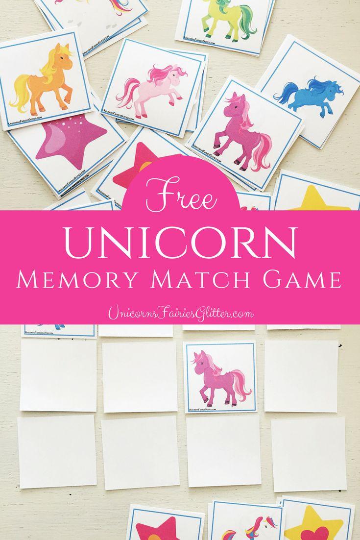 Free unicorn memory match game unicorn games memory