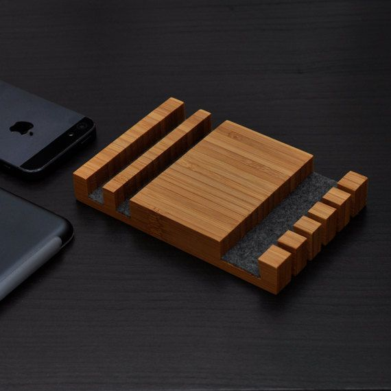 Charging Station/ Cable Organizer/ iPhone Dock/ by woodworksRD, $55.00