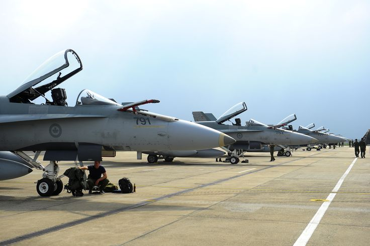 Tail Number (771, 782, 791): Royal Canadian Air Force CF-18 fighter aircraft sit on the flight line on May 1, 2014, at Spangdahlem Air Base, Germany. The Canadian Armed Forces are one of the major contributors to NATO operations since the founding of the Alliance 65 years ago.   U.S. Air Force photo by Senior Airman Rusty Frank (140501-F-YU668-237)