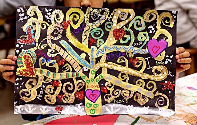 Spirals: Gustav Klimt Tree of Life. Spirales: Klimt l'arbre de vie.