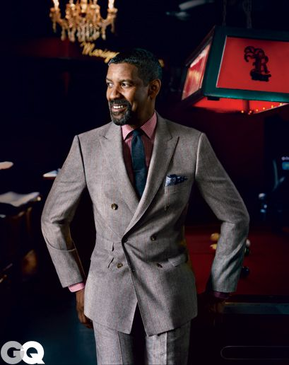 """Denzel Washington COVERS Oct 2012 Issue of """"GQ"""" AND GALVANIZES the Caesar haircut."""