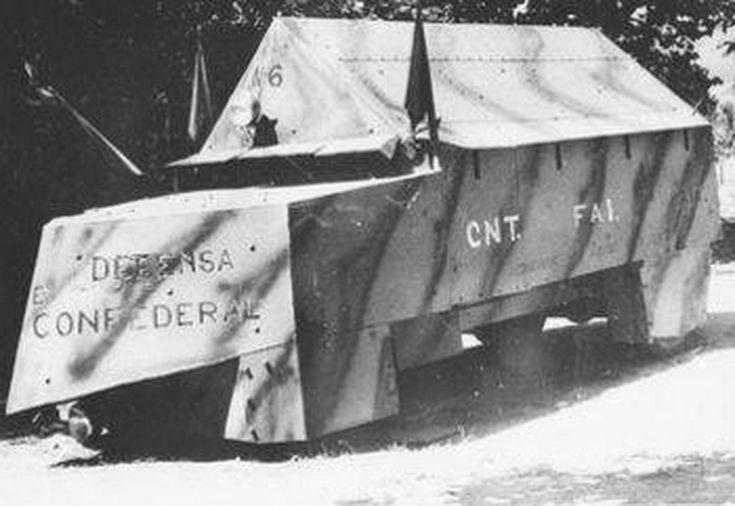 Vehículos blindados artesanales de la Guerra Civil Española