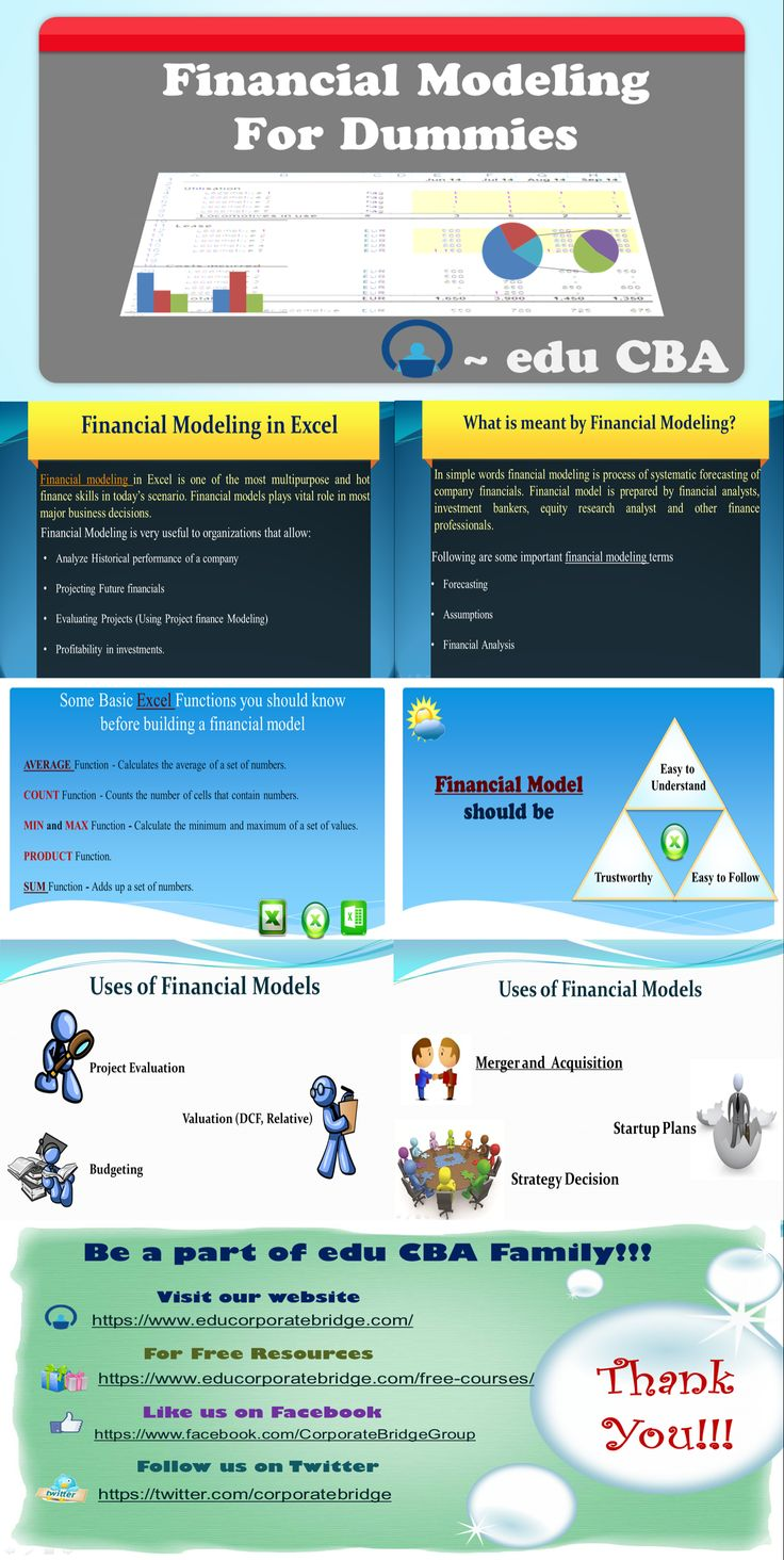 For full text article go to : https://www.educba.com/financial-modeling-for-dummies/This Financial Modeling for Dummies article provides you with a snapshot of the basics of Financial Modeling, its usages from the industry point of view and also discusses steps to build a financial model.