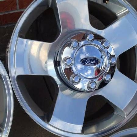 """Fore Excursion Factory 17"""" Wheels and Tires For Sale or Trale. Aluminum Rims with Center Caps."""