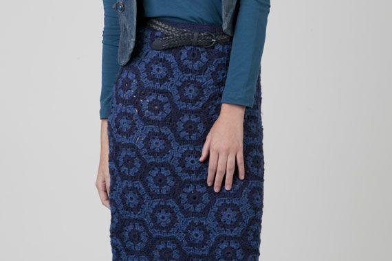 Falda de módulos bicolores.