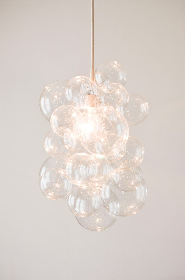 The Waterfall Pendant Glass Bubble Chandelier by TheLightFactory, $500.00