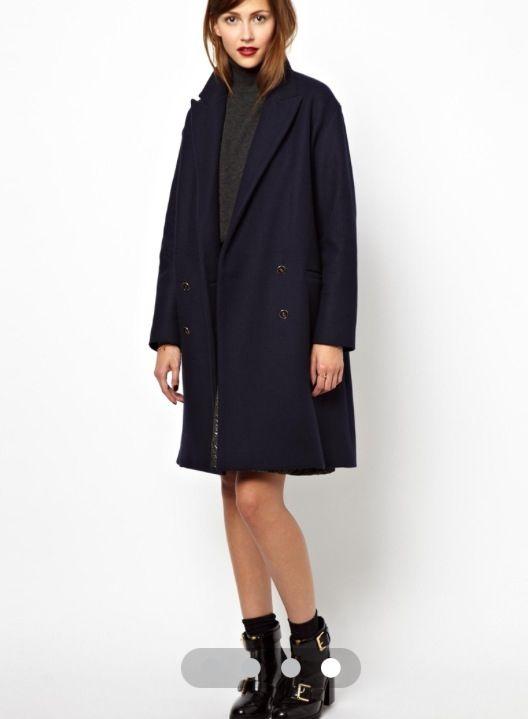 Image 4 of Les Prairies de Paris Oversized Double Breasted Coat in Bonded  Wool