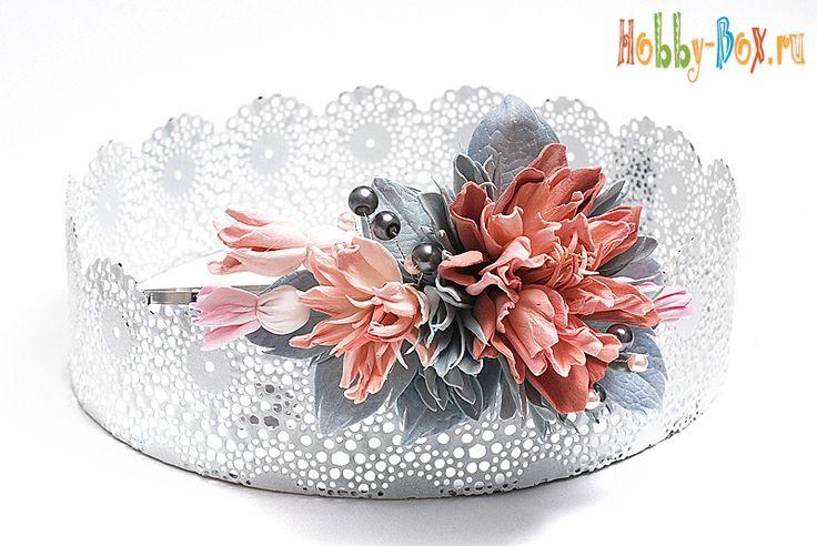 Аксессуары для волос. Цветы из фоамирана - Hobby-Box.ru