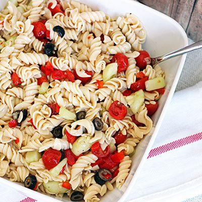 Skinny Mom | Recipe: Skinny Pasta Salad