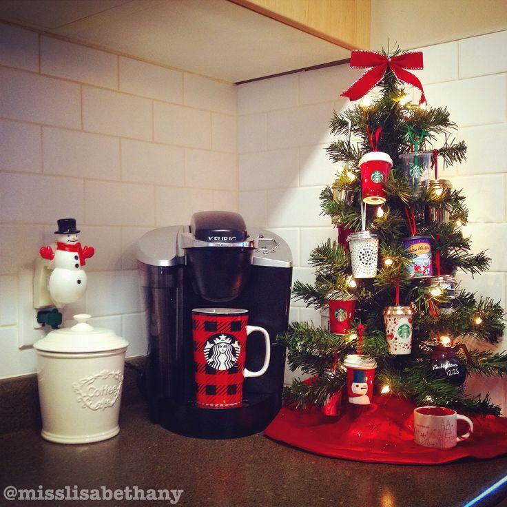 Coffee Christmas Tree #Christmas #ChristmasTree #Starbucks