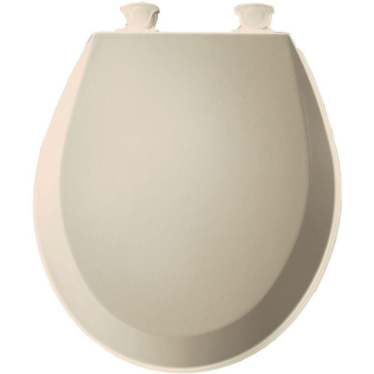 Bemis Lift-Off Round Closed Front Toilet Seat (Fawn beige), Tan