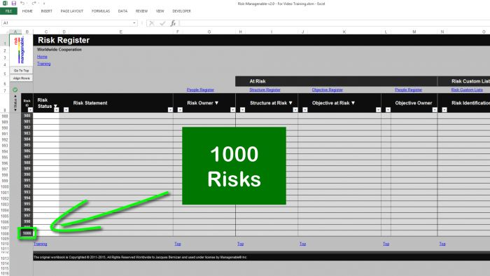 Risk Template In Excel  Risk Heat Maps Or Risk Matrix For