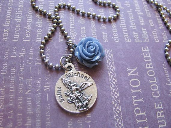 Blue Rose St. Michael Police Serve and by bluesparrowtrinkets