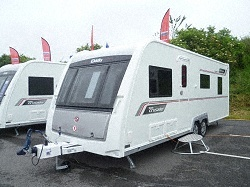 "New Elddis Crusader Cyclone 2013 Caravan,   Price: £23999 + Delivery Charge.  Berth: 4  Year: 2013.  Internal Length: 20ft 10"".  External Length: 26ft 5"".  Width:7ft 6""  Unladen Weight: 1565kg.  MTPLM: 1725kg."