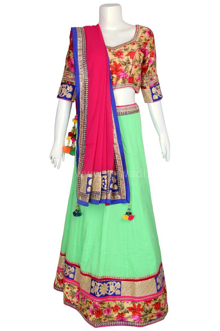 Latest designer Chaniya Choli for Navratri #Garba #Dance #Navratri #Festival #Rajwadi #ChaniyaCholi #NewArrival #grabit #Navratricollection #Navratri2015