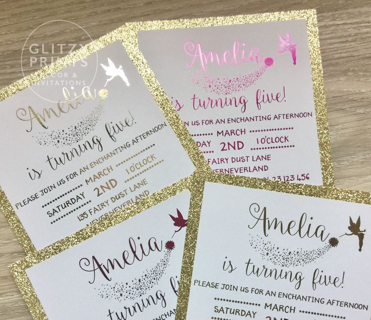 Gold Foil Invitation, Girl Birthday Invitation, Fairy Invitation, 1st Birthday, Christening Baptism, Glitter, Pink, Gold, Printed Invitation REAL SHINY GOLD OR PINK FOIL INVITATIONS BIRTHDAY, CHRISTENING, BRIDAL SHOWER OR ANY SPECIAL OCCASION