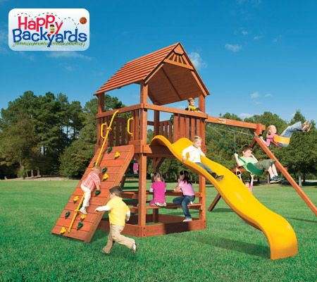 Happy Backyards Franklin TN    For families with smaller yards and budgets in mind, Happy Backyards Brand playsets are a great value for your playground dollar. They have a semi-modular design for add-ons like the upper-level enclosure, lower-level enclosure, and monkey bars. Or, you may also expand on them later as your family grows.