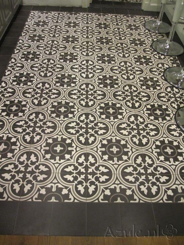 Cement tiles Living Room - Negra 17 - Egal Negra S800 - Project van Designtegels.nl