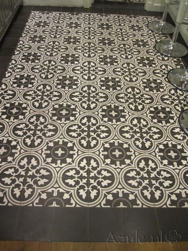 Cement tiles Living Room - Negra 17 - Egal Negra S800 - Project van Designtegels.nl