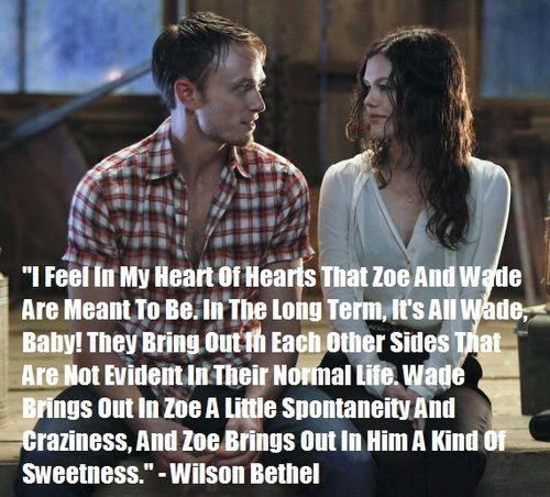 Rachel Bilson and Wilson Bethel   True Love Never Dies, Wilson Bethel On Zoe And Wade...