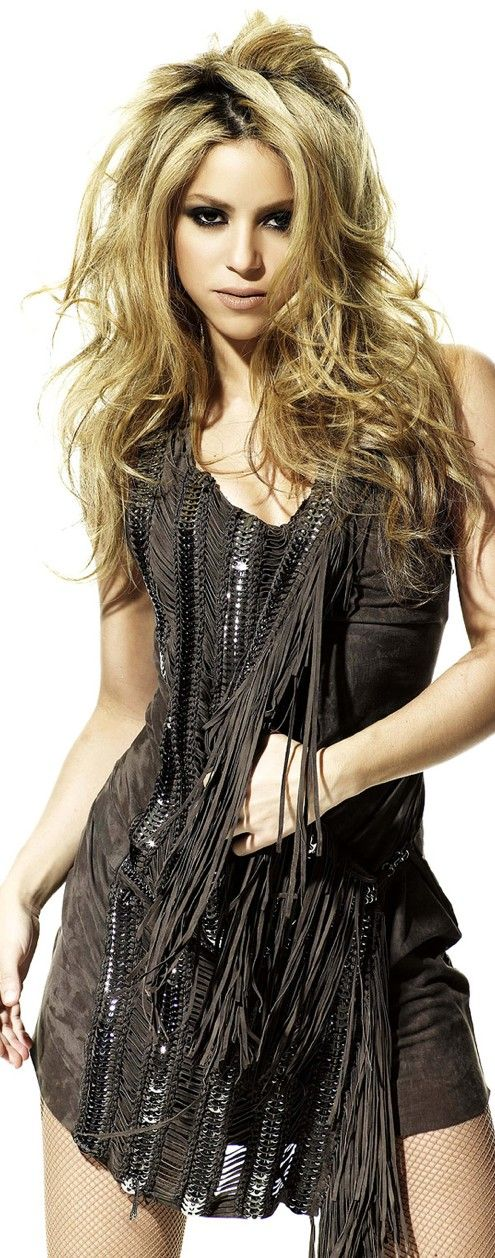 Shakira. Beautiful until she opens her mouth