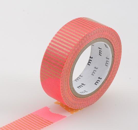 Washi Tape, MT Tape, Coral, Orange, Gold, Pink, Patch Tsugihagi, Japanese, Wedding, Birthday on Etsy, $4.00