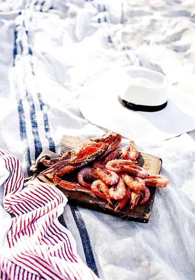 fresh crab and prawns (Photographed and styled by ©Kara Rosenlund www.kararosenlund.com)