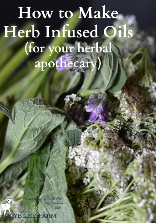 You can make herb infused oils out of dried herbs from your own garden. These…