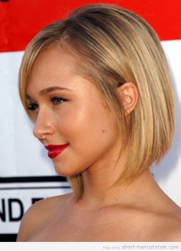awesome Idée coupe courte : Short-Angled-Bob-Hairstyles-with-Side-Bangs...