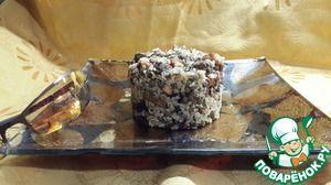 Салат Шэмеш     Чечевица  — 1/2 стак.     Бекон  — 200 г     Лук красный  — 1 шт     Баклажан (Небольшой) — 1 шт     Рис коричневый  — 1/2 стак.     Маслины  — 1 горст.     Масло оливковое      Соль      Перец черный      Перец чили