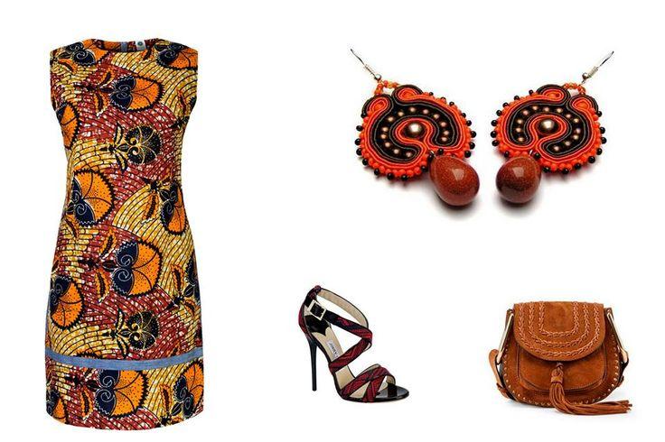 Kolczyki Anna Łukasiak Sutasz-Anka Kolekcja afrykańska Retro dress maiko by Aleksandra Majczyna: Kolekcja afrykańska Torebka : Chloé Buty: JIMMY CHOO Emotikon heart #retro, #afro, #sukienka, #sutasz, #Maiko,#SutaszAnka, #jewelry, #dress, #maikodres, #Africastyle, #modnapolka, #kupujodpowiedzialnie, #cudzechwalicieswegonieznacie