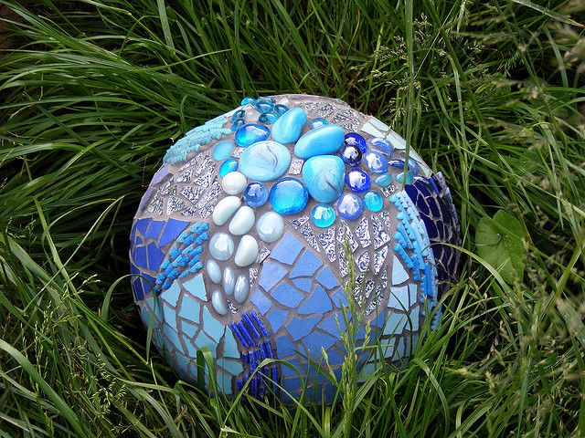 The Blue Ball by mosaic artist Judit Bozsár