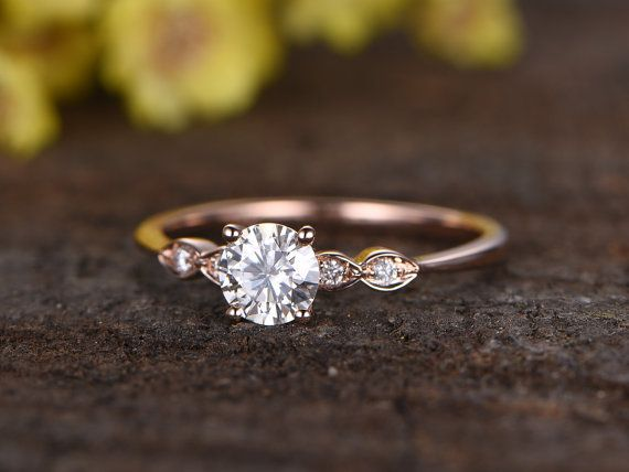 Charles & Colvard Moissanite Verlobungs ring Braut Ring 14 k