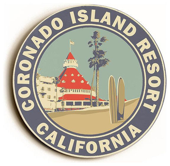 Coronado Island http://www.houzz.com/photos/34772850/Coronado-Island-Resort-Wood-Sign-18x18-Round-beach-style-novelty-signs