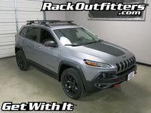 Jeep Cherokee TrailHawk Thule Rapid Crossroad BLACK AeroBlade Roof Rack '14-'16*