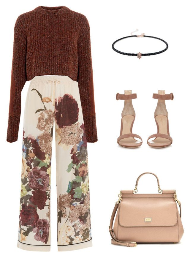 """👜🍂"" by parisianights on Polyvore featuring moda, Valentino, Gianvito Rossi, TIBI, Jacquie Aiche ve Dolce&Gabbana"