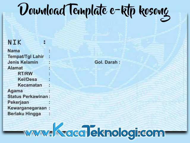 Download Template E Ktp Kosong Bentuk Psd Cdr Ai Terbaru Untuk Diedit Creative Cv Template Template Kutipan Pelajaran Hidup