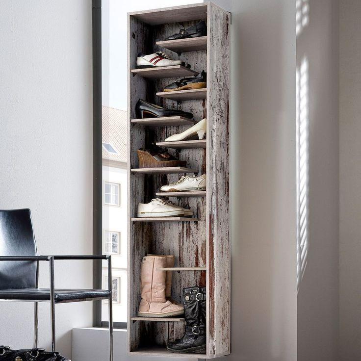 Dreh Schuhschrank Woody verspiegelt 45x176cm Eiche antik - Mäusbacher Möbel online günstig kaufen