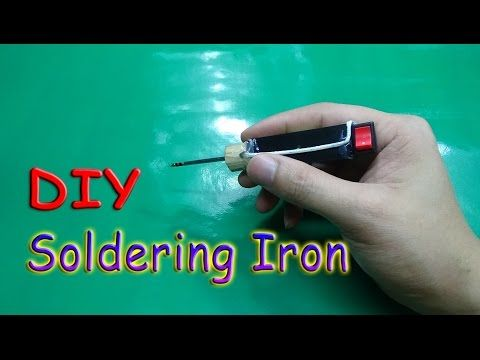 How To Make A MINI Battery Powered Soldering Iron Tool - YouTube