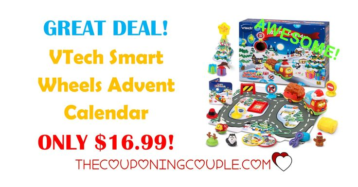 GREAT DEAL! Get the VTech Smart Wheels Advent Calendar is ONLY $16.99! I love this different advent calendars available!  Click the link below to get all of the details ► http://www.thecouponingcouple.com/vtech-smart-wheels-advent-calendar/ #Coupons #Couponing #CouponCommunity  Visit us at http://www.thecouponingcouple.com for more great posts!
