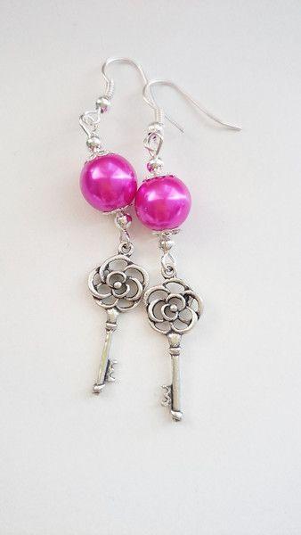 Ohrringe & Ohrhänger - Ohrringe Schlüssel Röteln - ein Designerstück von atelier-house-decor bei DaWanda