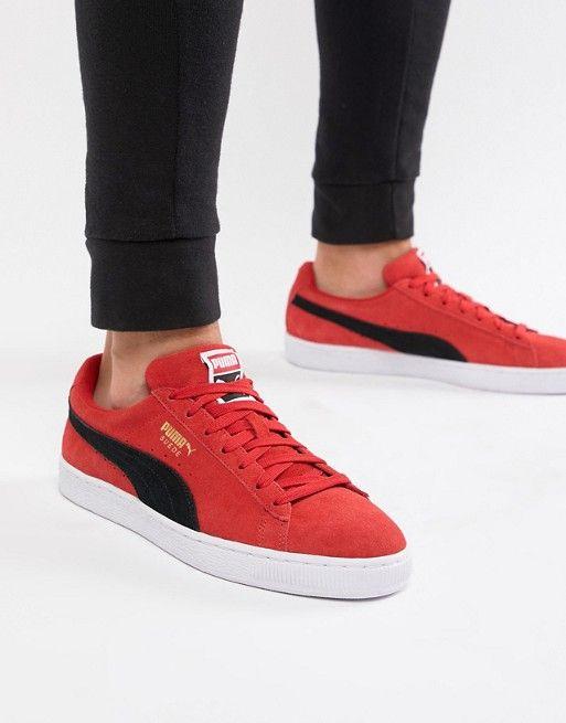 Puma Suede Classic sneakers in red 36534730 in 2019  b1c7fadd9