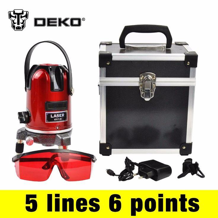 DEKO 5 lijnen 6 punten laser niveau 360 rotary cross laser line leveling kan met outdoor ontvanger