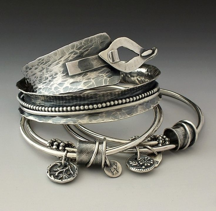 Bangles | Laura Jane Bouton. Sterling silver.