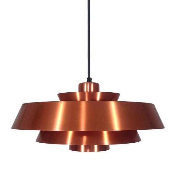 Very Attractive Design Copper Light Fixtures. NOVA copper pendant by Jo Hammerborg  1960s Fog M rup Danish vintage design lighting hanging lamp A very attractive piece 90 best images on Pinterest Vintage designs