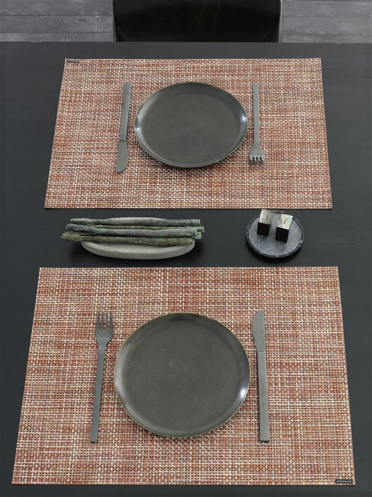 Perfect for the fall table featuring Basketweave
