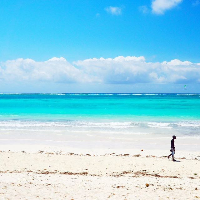 Shades of blue and solitude on #Diani Beach, #Kenya.